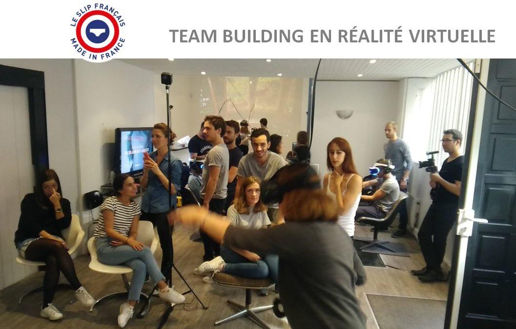 Teambuilding en réalité virtuelle avec le Slip Français