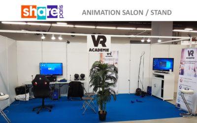 Animation en réalité virtuelle au salon SHARE Paris