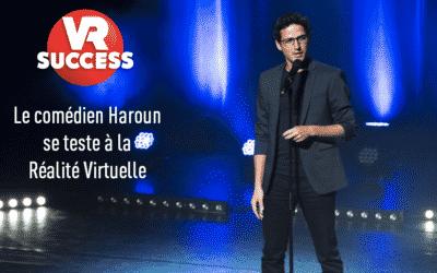 Le comédien Haroun fait du ski  en réalité virtuelle