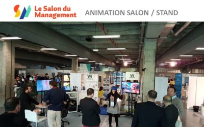 Animation casque réalité virtuelle Paris au salon du Management