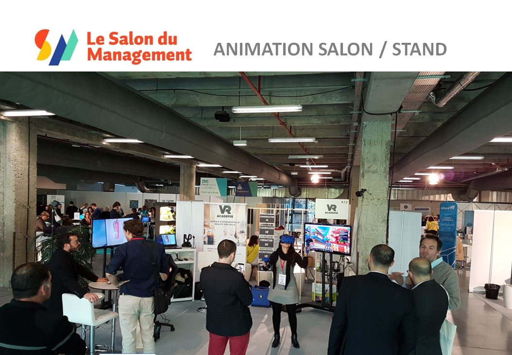 Animation casque réalité virtuelle Paris au salon du Management