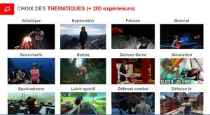 expériences de réalité virtuelle