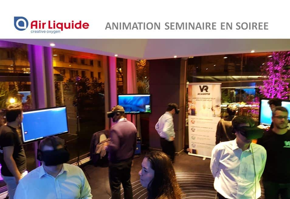 Séminaire entreprise original en réalité virtuelle pour AIRLIQUIDE
