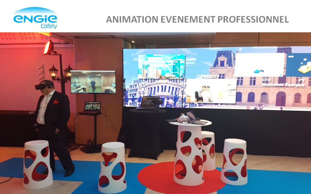Animation événement professionnel en réalité virtuelle