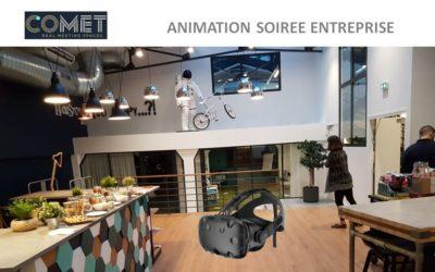Animation pour soirée d'entreprise en réalité virtuelle chez COMET Paris