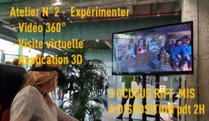 atelier expérimenter la vidéo 360°