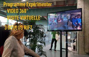 programme expérimenter la réalité virtuelle