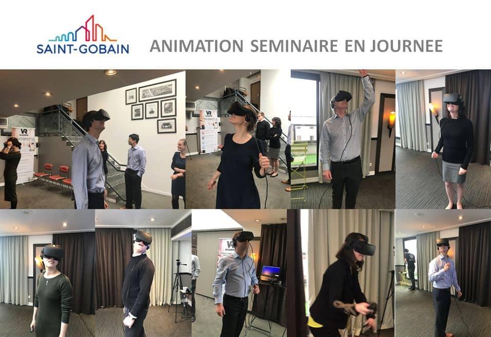 Idée activité séminaire entreprise – la réalité virtuelle à Paris chez Saint-Gobain