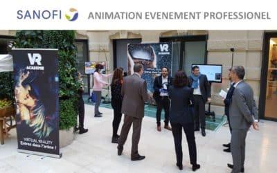 ► Animation évènementielle en entreprise pour la société SANOFI
