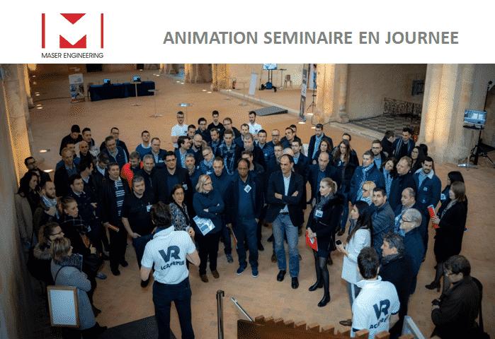 Animation de séminaire en réalité virtuelle vr academie