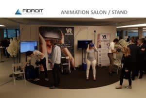 l'animation du colloque Fidroit en réalité virtuelle vr academie