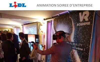 ► LIDL choisit la réalité virtuelle pour sa soirée d'entreprise sur une péniche