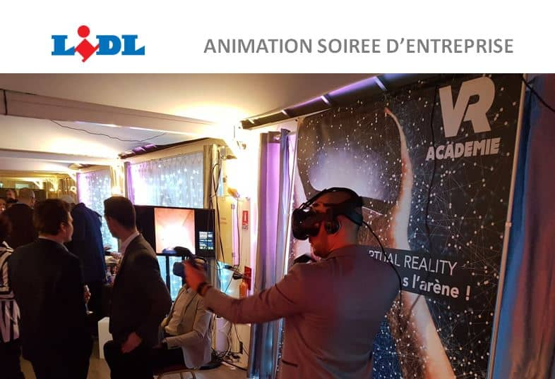 LIDL choisit la réalité virtuelle pour animer sa soirée d'entreprise