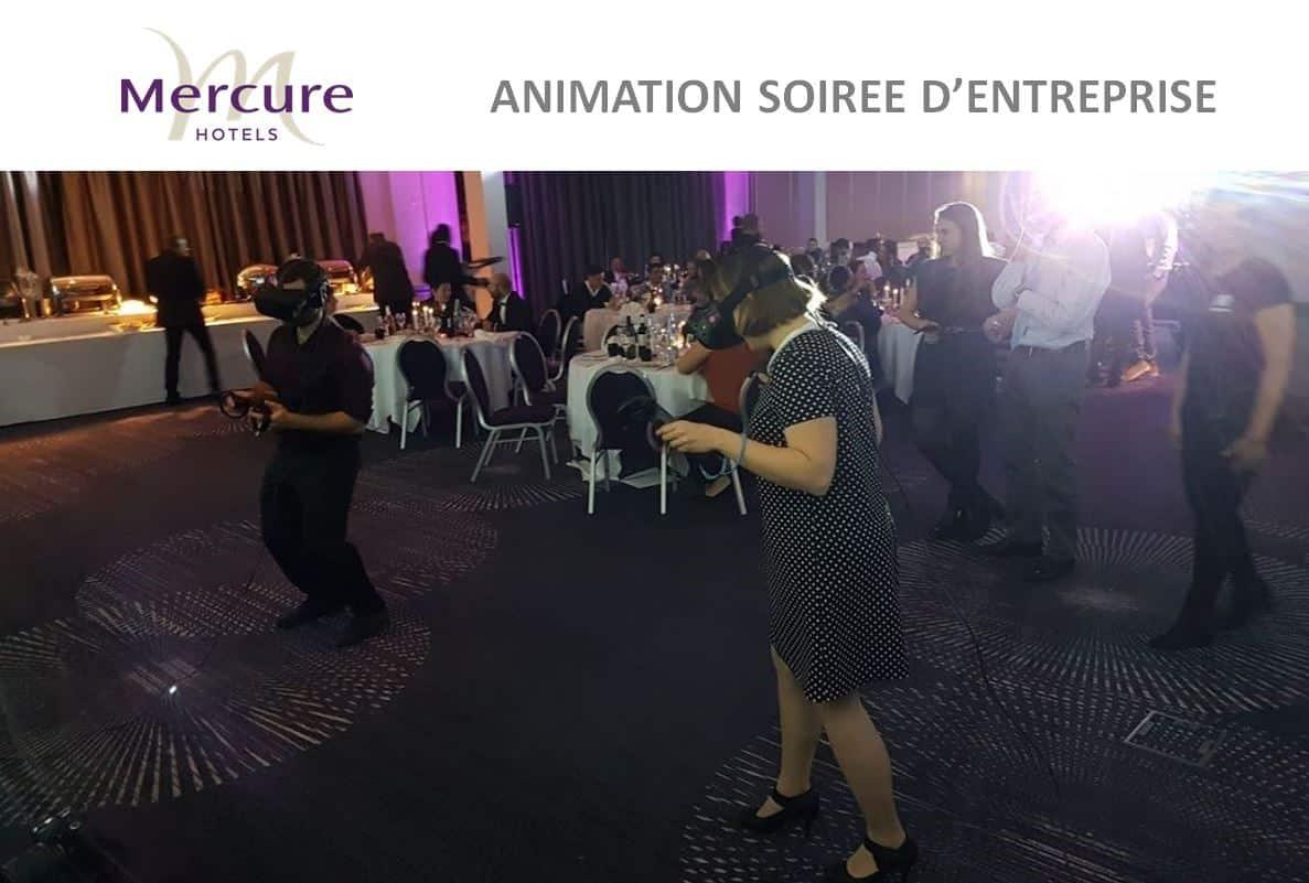 réalité virtuelle pour la chaîne d'hôtels Mercure vr academie