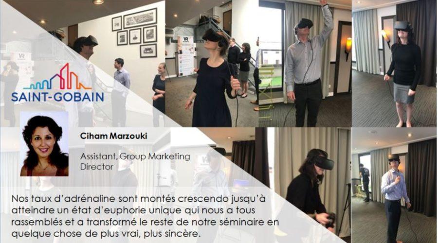 animation réalité virtuelle entreprise SaintGobain-Témoignage