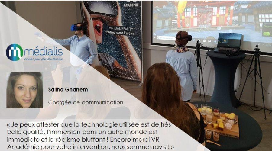 animation réalité virtuelle entreprise Témoignage_Medialis