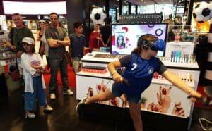 animation réalité virtuelle en magasin