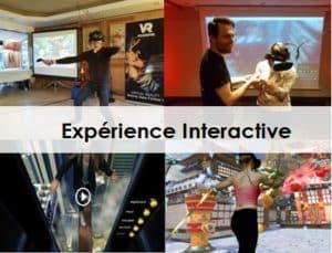 animation séminaire entreprise-expérience de réalité virtuelle interactive