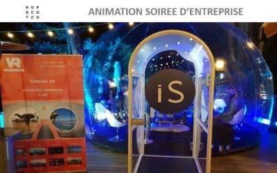 Animation bulle immersive 360° en réalité virtuelle pour l'agence Hopscotch