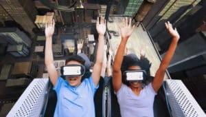 animation réalité virtuelle rollercoaster