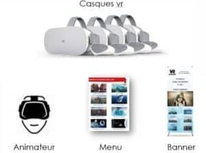 décoration stand cinema 360 réalité virtuelle basique web