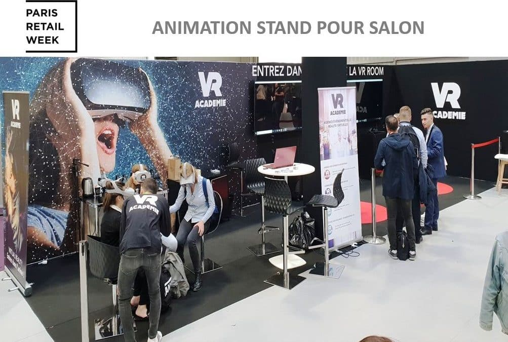 Notre animation réalite virtuelle au salon Paris Retail Week