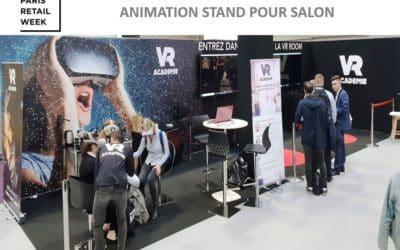 Notre animation réalite virtuelle au salon Paris Retail Week