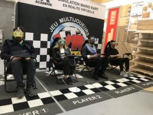soirée d'inauguration de magasin leroy merlin chateauroux stand vr kart