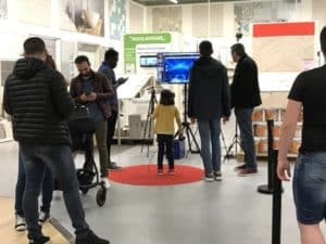 soirée d'inauguration de magasin leroy merlin chateauroux stand interactif
