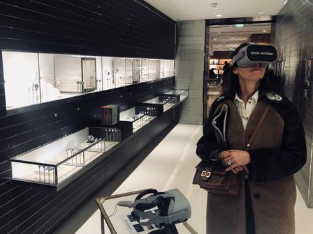 louis vuitton magasin réalité virtuelle