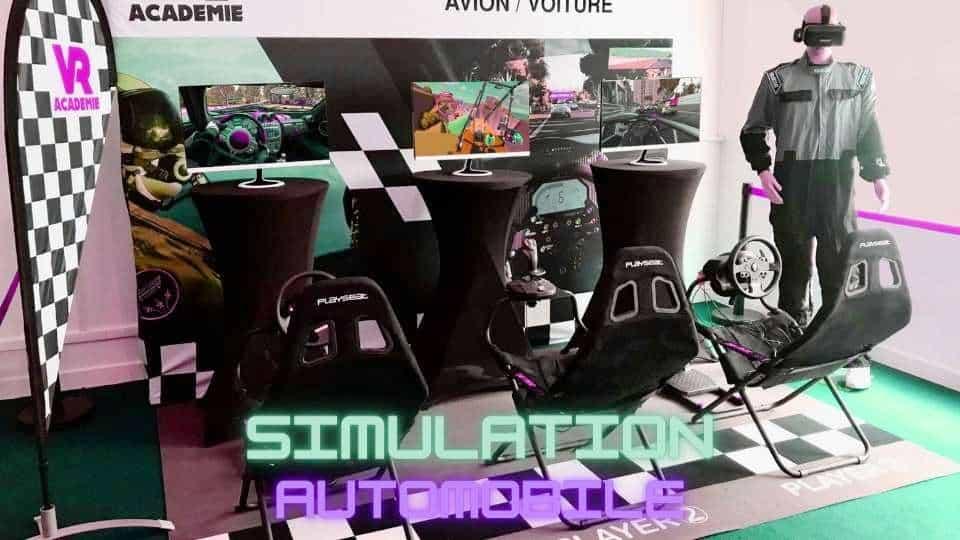 Animation simulation automobile en réalité virtuelle - elite experiences - web